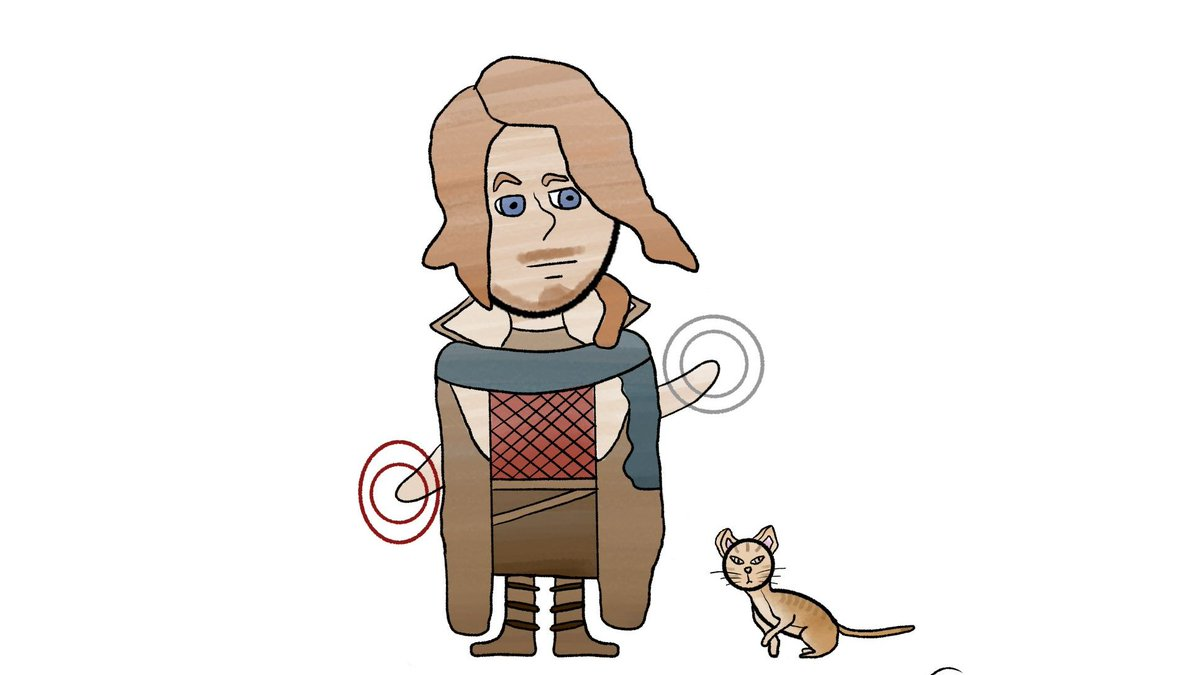 Doing a doodle series of @CriticalRole characters! This time it's Caleb Widogast and The Fey Prince Frumpkin who both belong to the delightful @VoiceOfOBrien :D  #CriticalRole #criticalrolefanart #CriticalRoleArt #calebwidogast #frumpkin