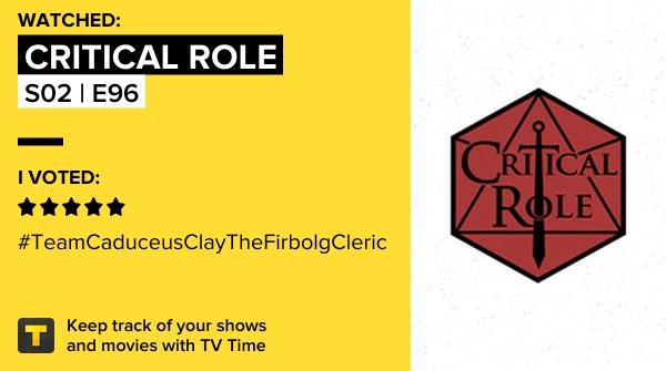 eu claramente não tenho auto controle e assisti S02 | E96 de Critical Role! #criticalrole   #tvtime