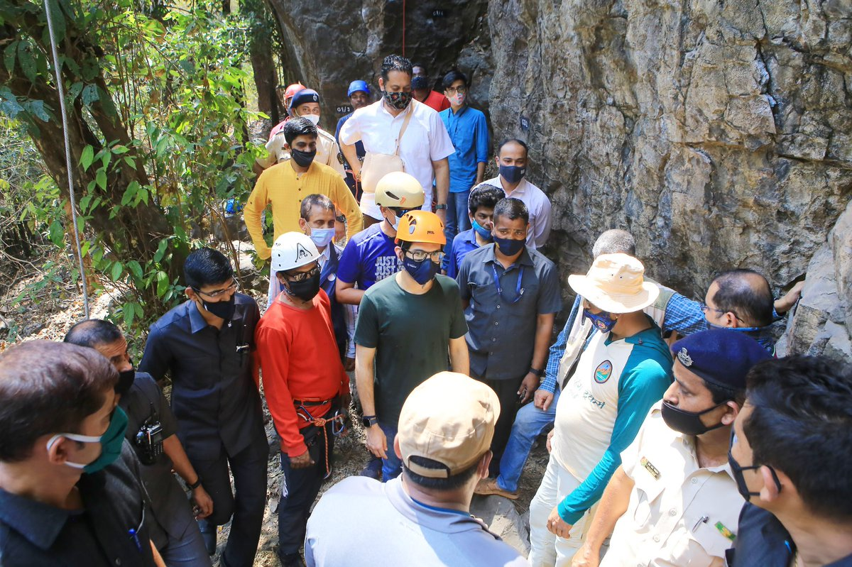 Soon #Mumbaikars can treat their adrenaline rush with #RockClimbing at #SGNP, Borivali.  The adventure sports facility inaugurated by Hon. Minister Sh. @AUThackeray.  This facility will be made available to public after sometime considering the #COVID19 pandemic.