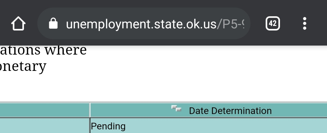 OESC.. OK unemployment website is garbage. They've had a year to get this straight. 5 weeks and no change in status.  #unemployment #oesc #oklahoma #okc #pua #COVID19 #CovidReliefBill