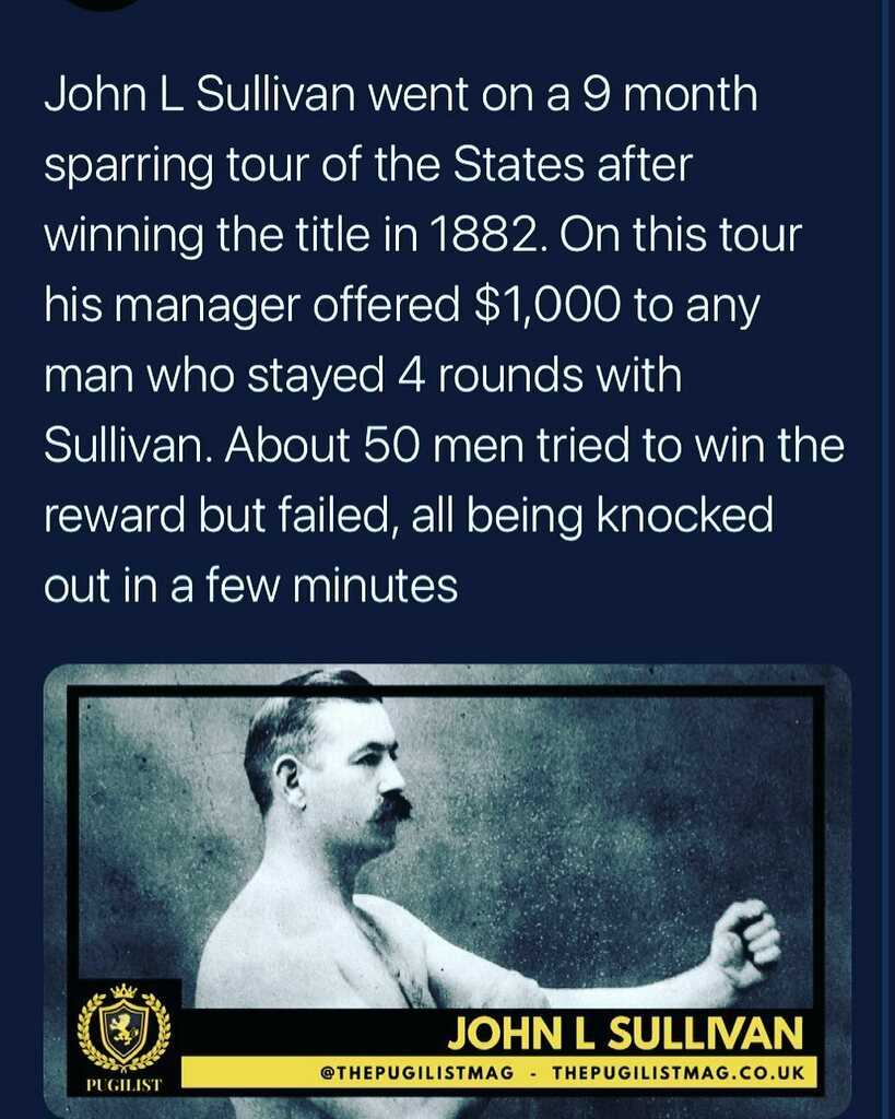 This is the man that got me started on this journey. It's actually a really funny story, if you ever meet me you'll have to ask me about it.  Original post for @thepugilistmag   #cutman #boxing #mma #muaythai #bareknuckle #johnlsullivan