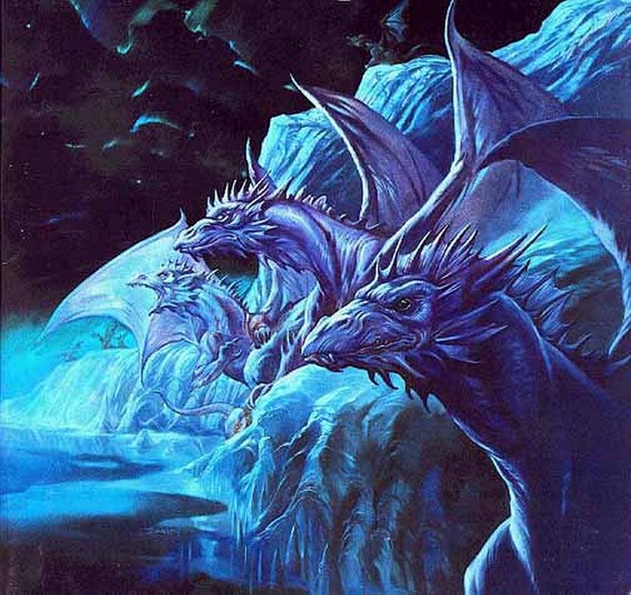 Icecave by Greg and Tim Hildebrandt #fantasyart #Dragon #otherworld #Epic #Fantastico #dimensions