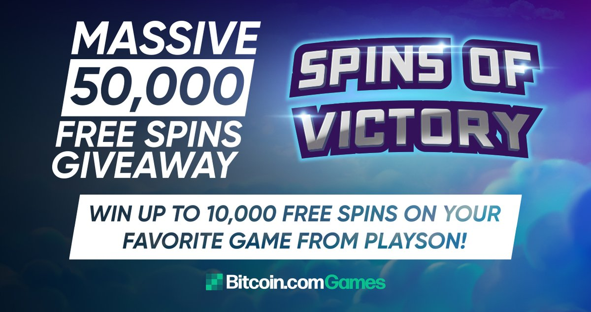 🌀💫✨Spins of Victory✨💫🌀  Play 30+ selected games and win up to 10,000 Free Spins on a game of your choice!  Top 50 will win from a prize pool of 50,000 Free Spins!  Start playing now👉  #Bitcoin $BTC #Casino #tournament