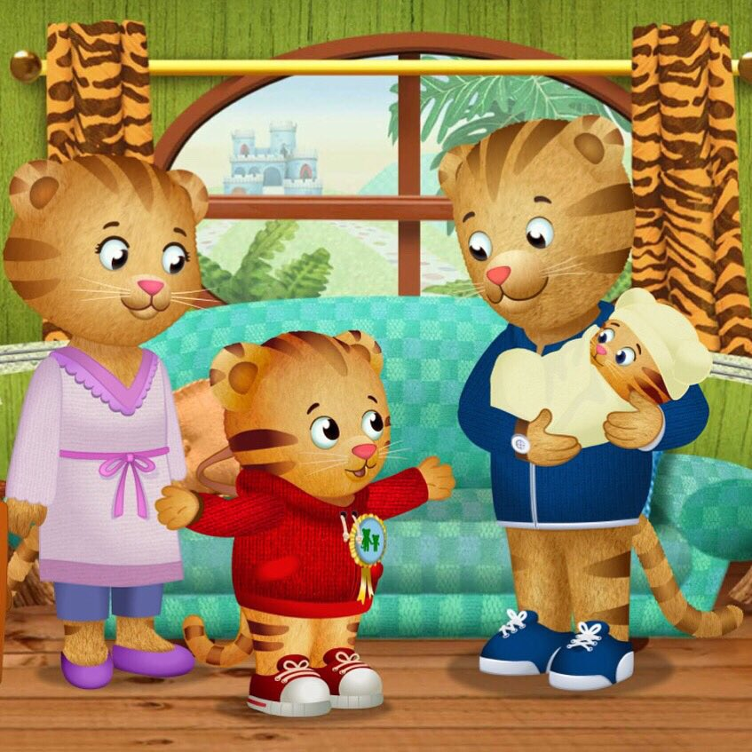 Daniel Tiger's curtains are made out of tiger skin.  #CancelACartoonCharacter