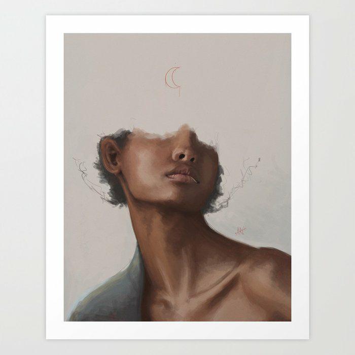 The moon by Carlos ARL   #art #design #wallart #homedecor #society6