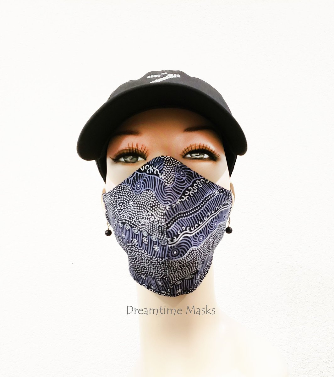 Black and White Purple Face Mask Fitted Adjustable Colorful Cotton Aboriginal Art Print Purple Face Covering  #staysafe #wearthedammmask #stayhome #Etsy #facemasks #facemask