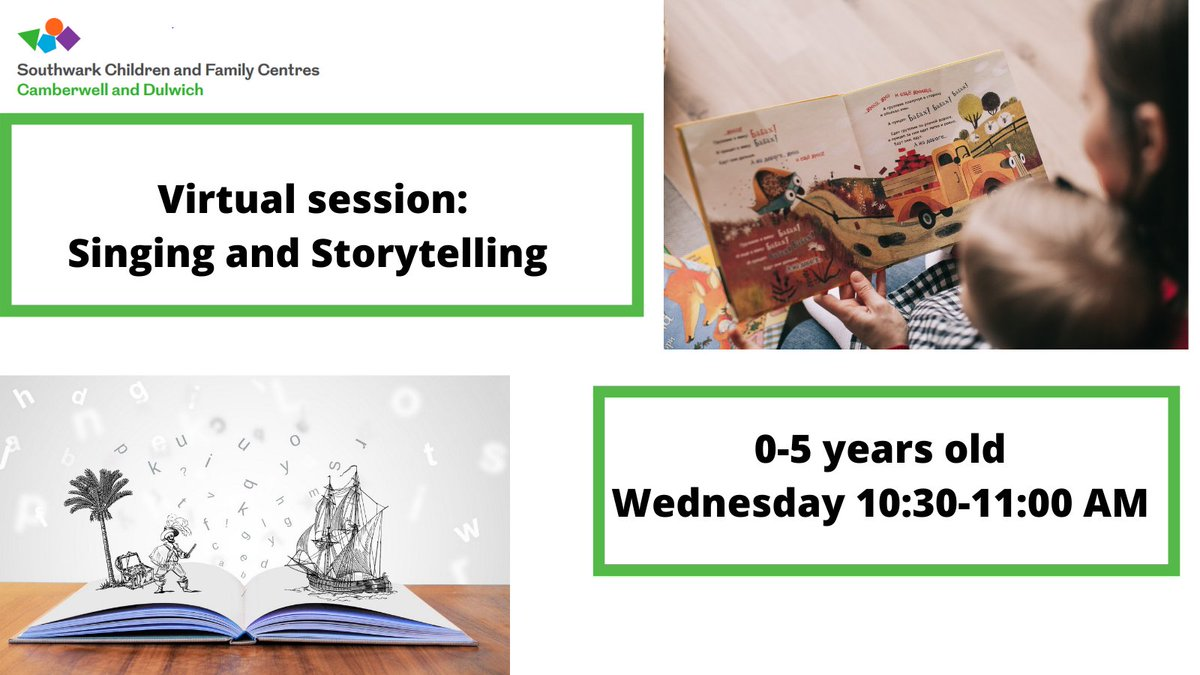 #Stayhome and sing and read with your children every Wednesday morning! To book in this session please email: cdcfcoffices@dulwichwood.com #EarlyChildhood #EarlyYears #Storytime