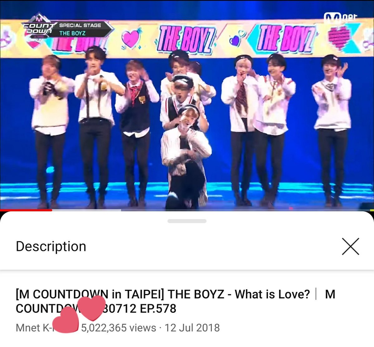 "#THEBOYZ | 090321 ー YOUTUBE  La performance spéciale de THE BOYZ au M COUNTDOWN à TAIPEI sur ""What Is Love?"" de Twice a atteint 5 millions de vues !  ❣  Cam 