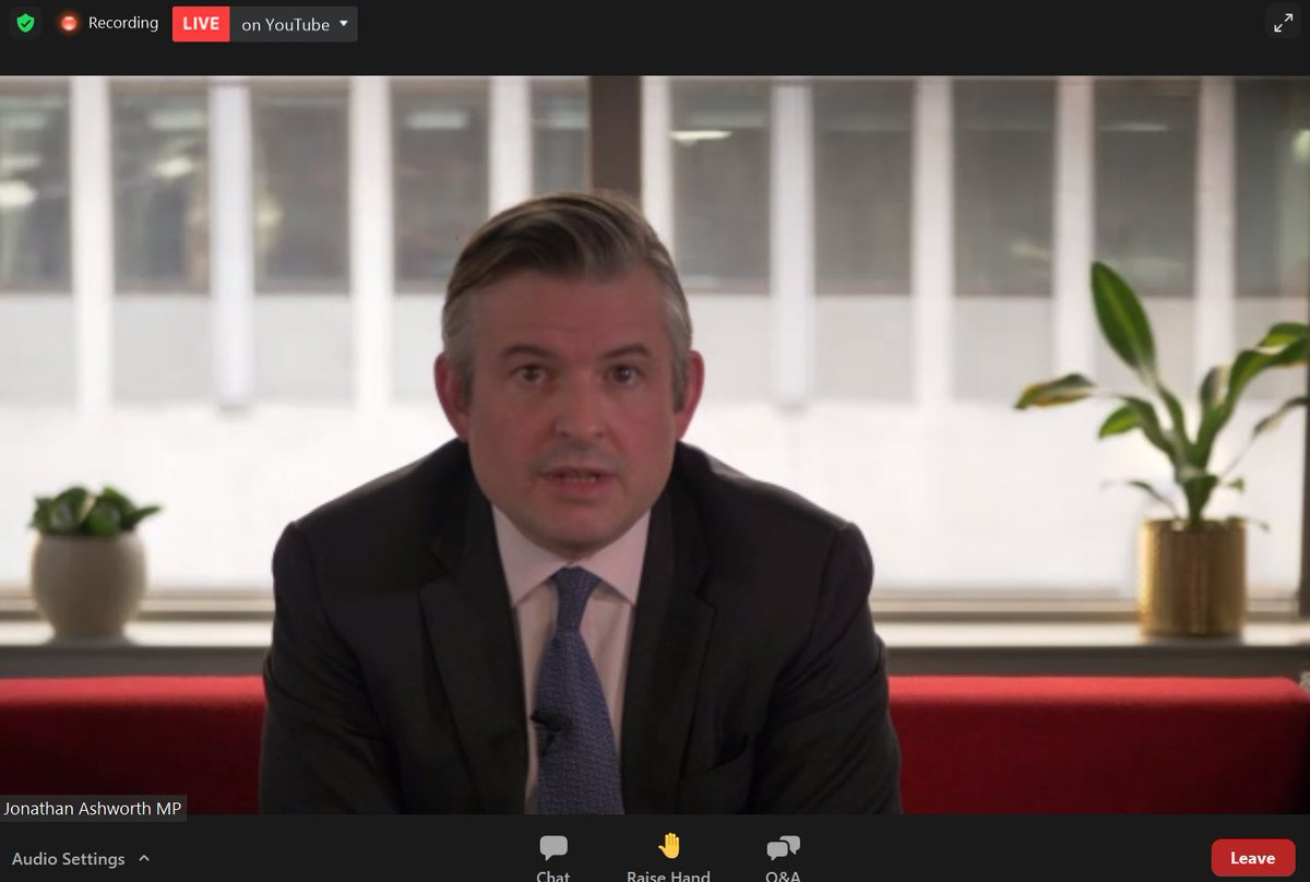 "On #IPPRWebinar to hear from @JonAshworth on foresight rather than hindsight, highlighting warnings from @BillGates that a #pandemic of this scale would happen, and that UK should have been better prepared - ""we didn't have to choose between #cancer care and #COVID care"""