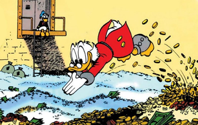 Scrooge McDuck definitely needs to be cancelled, RICH old white bastard sitting on all of his $$$Money$$$ and proud of it. He's a duck! Eat the rich! Scrooge à l'orange  #CancelACartoonCharacter