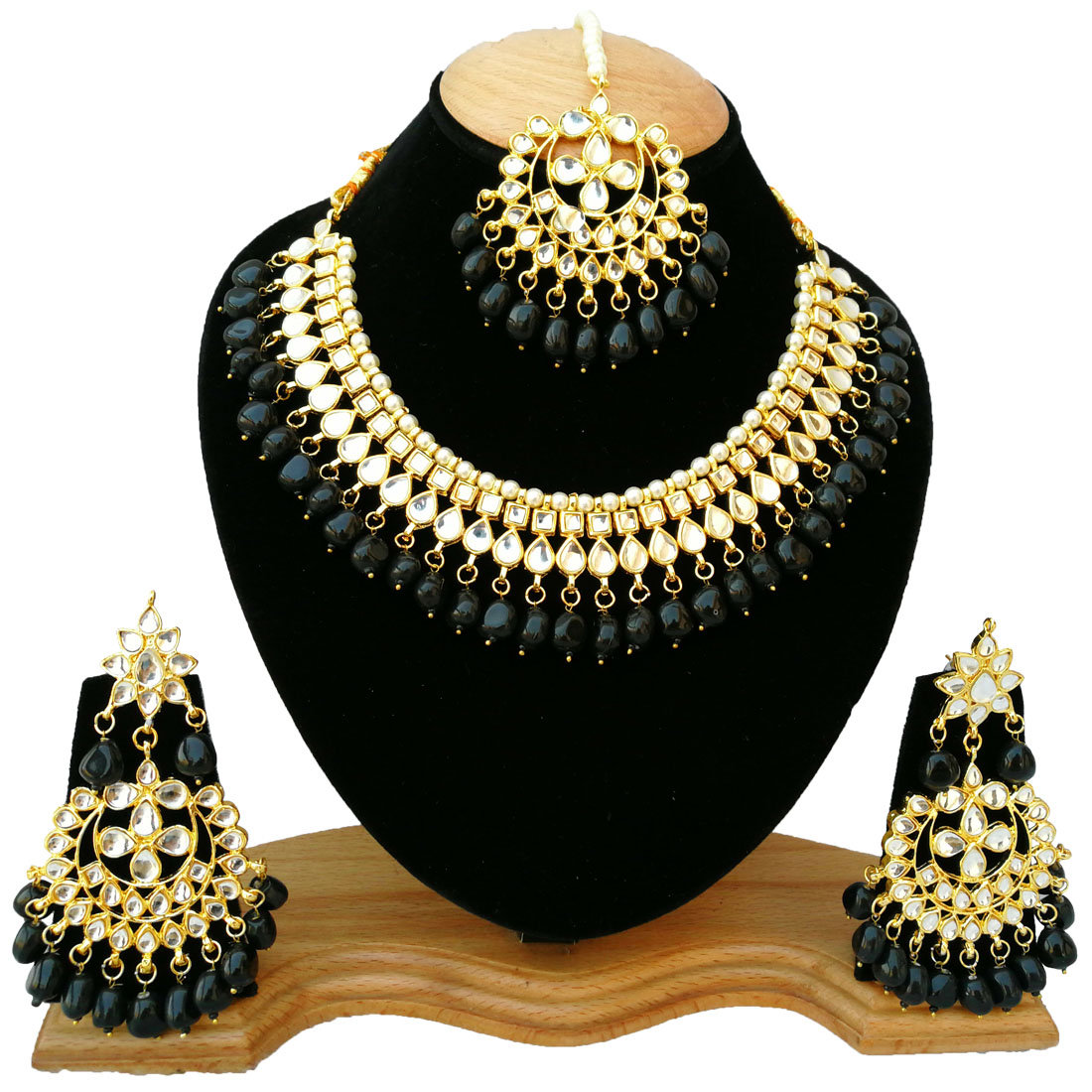 Excited to share the latest addition to my #etsy shop: Retailbees KUNDAN JEWELRY| Indian Bridal Jewelery Necklace| Necklace set| Pearls Necklace|Bollywood Jewelry|Fashion Jewelery  #black #wedding #gold #necklace #yes #pearl #women #glass #victor