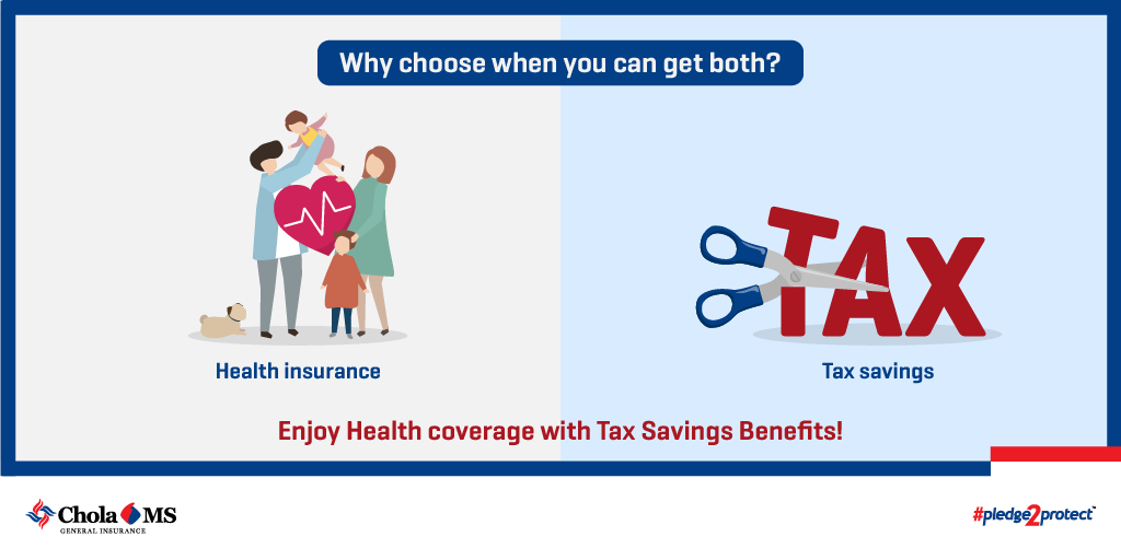 No more choosing, enjoy safety and savings! Get Tax Savings Benefit with Chola MS Health Insurance.  Know more:   #StayProtected #StayInsured #CholaMS #HealthInsurance #Pledge2Protect #Insurance
