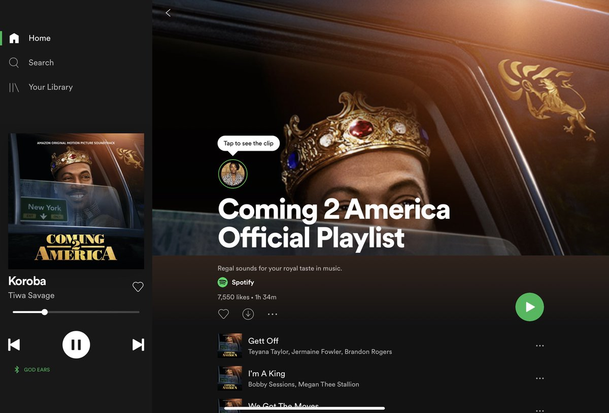 This playlist fire though🔥 #Coming2America