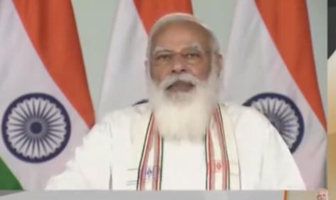 Prime Minister @narendramodi inaugurates #MaitriSetu  between India and Bangladesh  'Double Engine' government has transformed Tripura   Tripura is witnessing HIRA development i.e. Highways, i-ways, Railways and Airways  Details:
