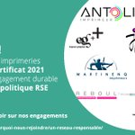 Image for the Tweet beginning: 🌲✅Bravo aux 9 premières imprimeries