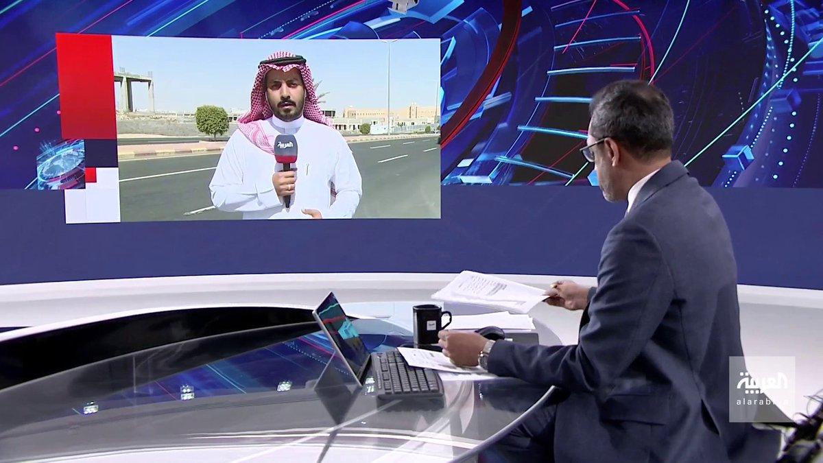 """مراسل #العربية في """"خميس مشيط"""" سلطان السلمي: الدفاعات #السعودية تعترض وتدمر مسيرة مفخخة أطلقها الحوثيون تجاه المدينة ولا خسائر."""