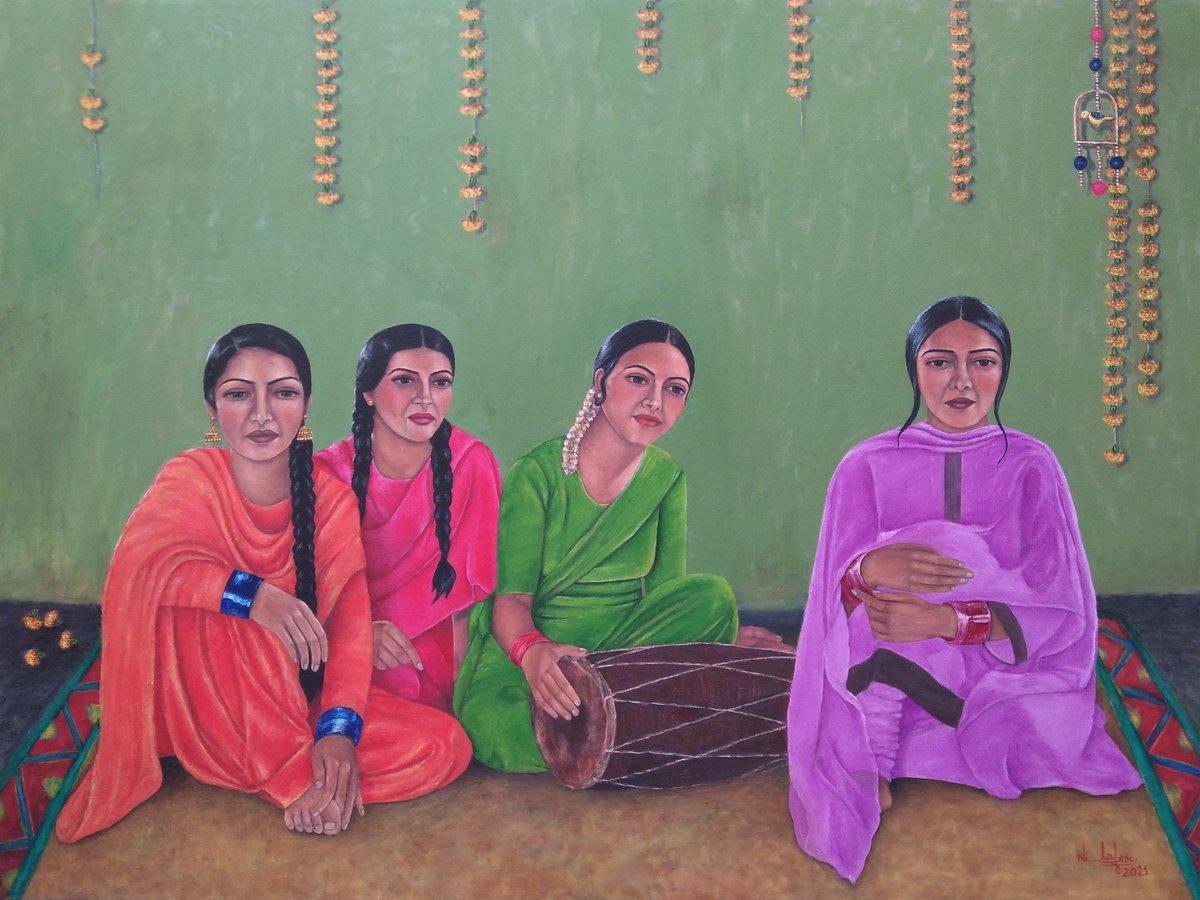 "My latest artwork... Title: Four Friends Oil on canvas 36""x48"" #artwork #painting #oilpainting #art #ArtistOnTwitter #Artist #handmade #canvaspainting #originalart #originalpainting"