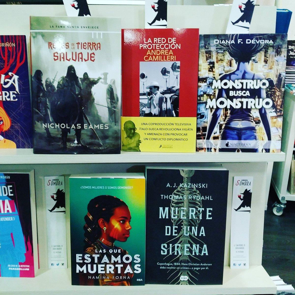 ¡En #Fantástico, #NovelaNegra y mucho más hay #NovedadesLibrescas de lo más llamativas!  Y recordad que se pueden comprar en   #ResistenciaLibresca