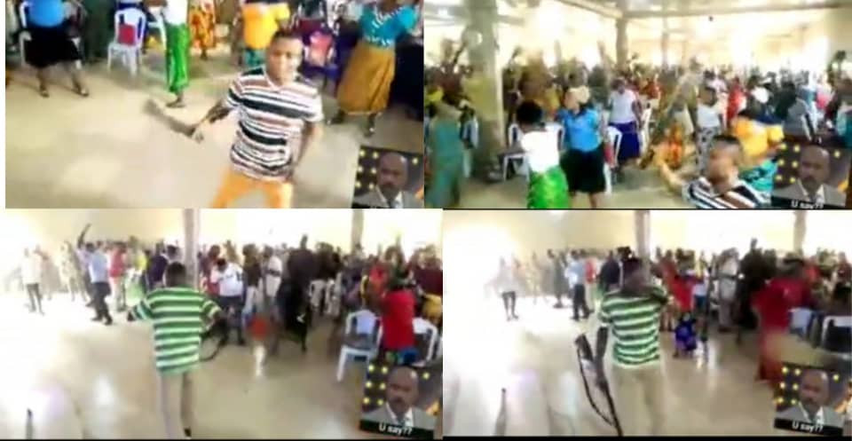 Church Members Praying With Different Weapons To 'Attack Principalities And Powers' (Watch video)  Read more here:   #news #nigeriainfomcf #Nigeria #Nigerians #NigeriaNews #Repost #BREAKING #BreakingNews #NewsPicks #Trending #TrendingNow