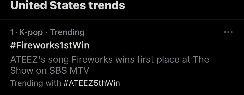 Thank you twitter guy @ATEEZofficial #ATEEZ #Fireworks #Fireworks1stWin #ATEEZ5thWin #에이티즈