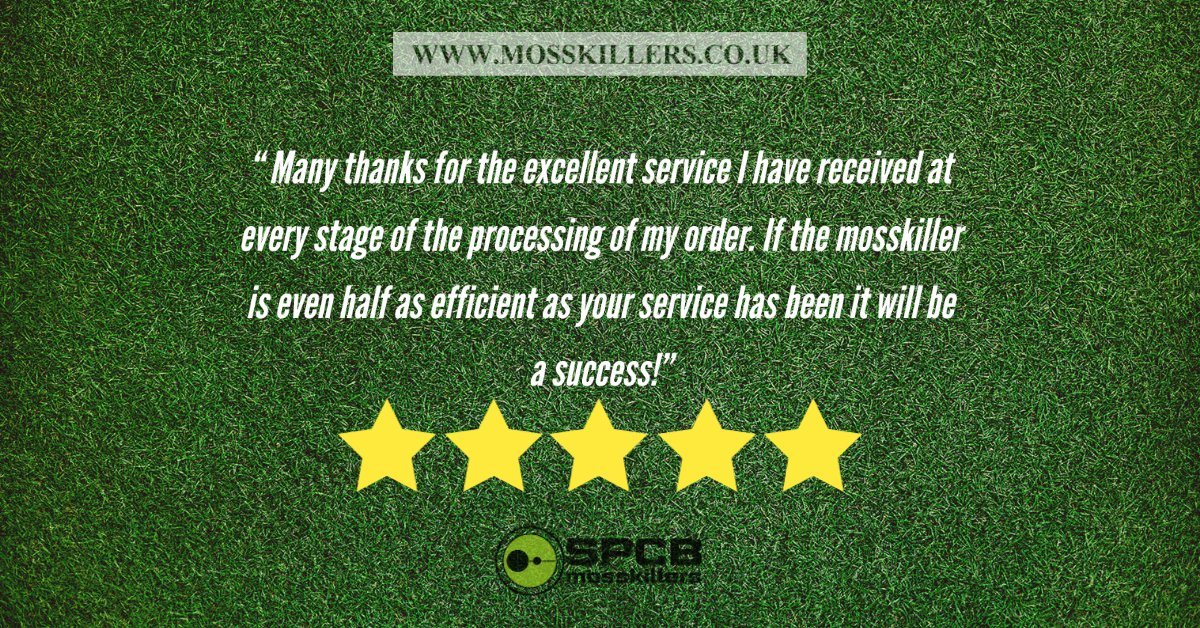 """​Many thanks for the excellent service I have received at every stage of the processing of my order. If the mosskiller is even half as efficient as your service has been it will be a success!""  #review #customerservice #gardening #gardener #customer #smallbusiness #happy"