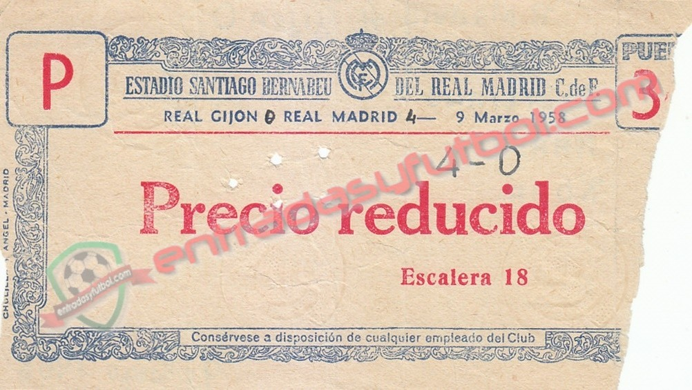 Entradasyfutbol Com On Twitter 9 De Marzo De 1 958 Realmadrid 4 0 Realsporting Santiagobernabeu Madrid J24 Primeradivision Https T Co M333od1ob4 Entradas Tickets Futbol Football Collector Ticketcollection