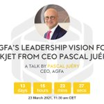 Image for the Tweet beginning: Pascal Juéry, CEO of Agfa,