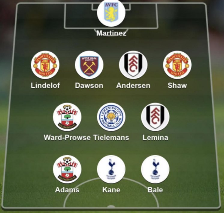 Premier League Team of the week ft. Luke Shaw and Victor Lindelof #mufc [@BBCSport] https://t.co/IHSBOZAHuy