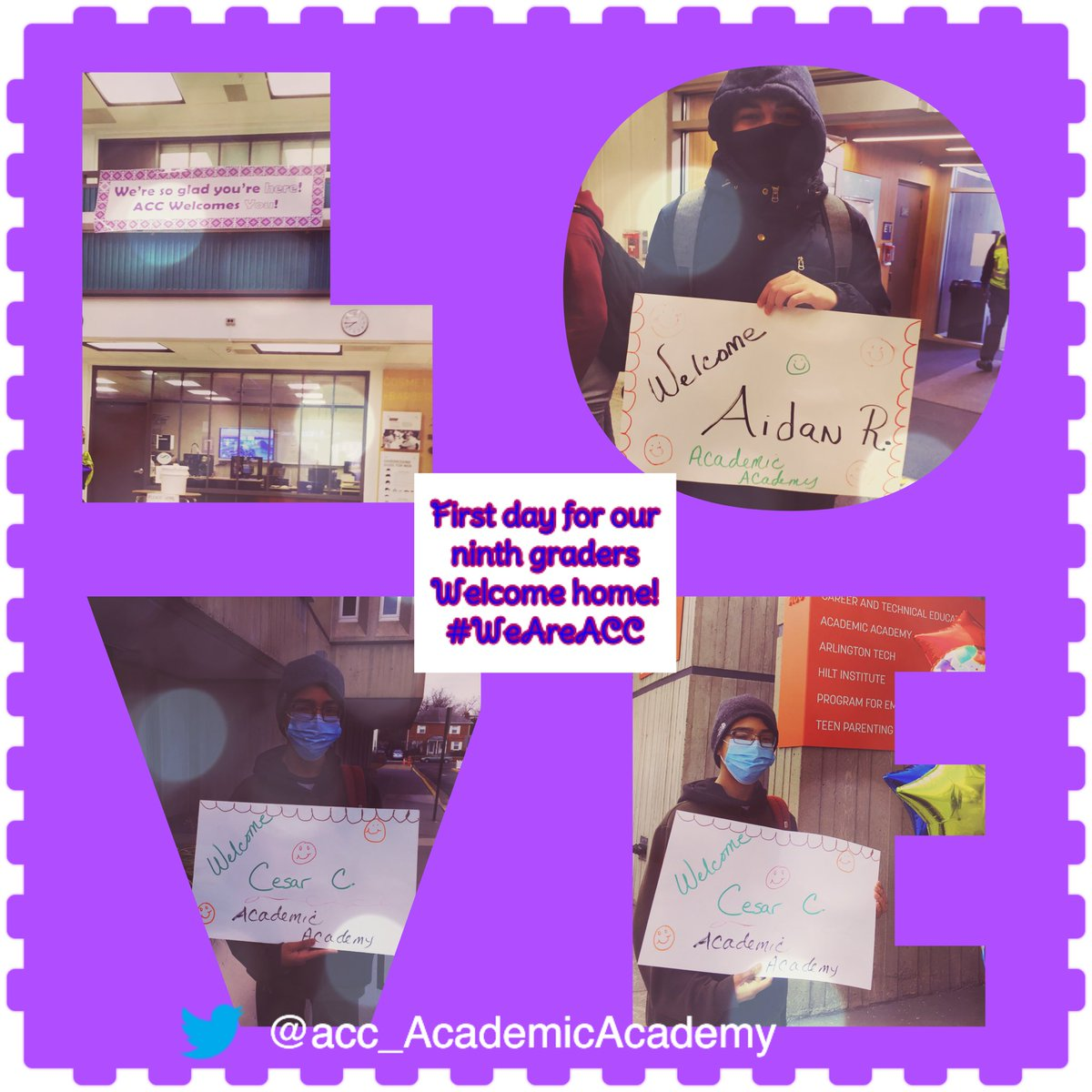 We had a loving & exciting welcome for our  <a target='_blank' href='http://twitter.com/AcadAcademy'>@AcadAcademy</a> ninth graders, who joined us today <a target='_blank' href='http://twitter.com/APSCareerCenter'>@APSCareerCenter</a> for the first time this school year! So good to have them home! Welcome! <a target='_blank' href='http://twitter.com/LisaStylesACC1'>@LisaStylesACC1</a> <a target='_blank' href='http://twitter.com/AccCounseling'>@AccCounseling</a> <a target='_blank' href='http://twitter.com/Margaretchungcc'>@Margaretchungcc</a> <a target='_blank' href='http://twitter.com/MsBakerACC'>@MsBakerACC</a> <a target='_blank' href='http://search.twitter.com/search?q=WeAreAcc'><a target='_blank' href='https://twitter.com/hashtag/WeAreAcc?src=hash'>#WeAreAcc</a></a> <a target='_blank' href='http://twitter.com/APSVaSchoolBd'>@APSVaSchoolBd</a> <a target='_blank' href='http://twitter.com/APSVirginia'>@APSVirginia</a> <a target='_blank' href='https://t.co/VU0iMEd23t'>https://t.co/VU0iMEd23t</a>