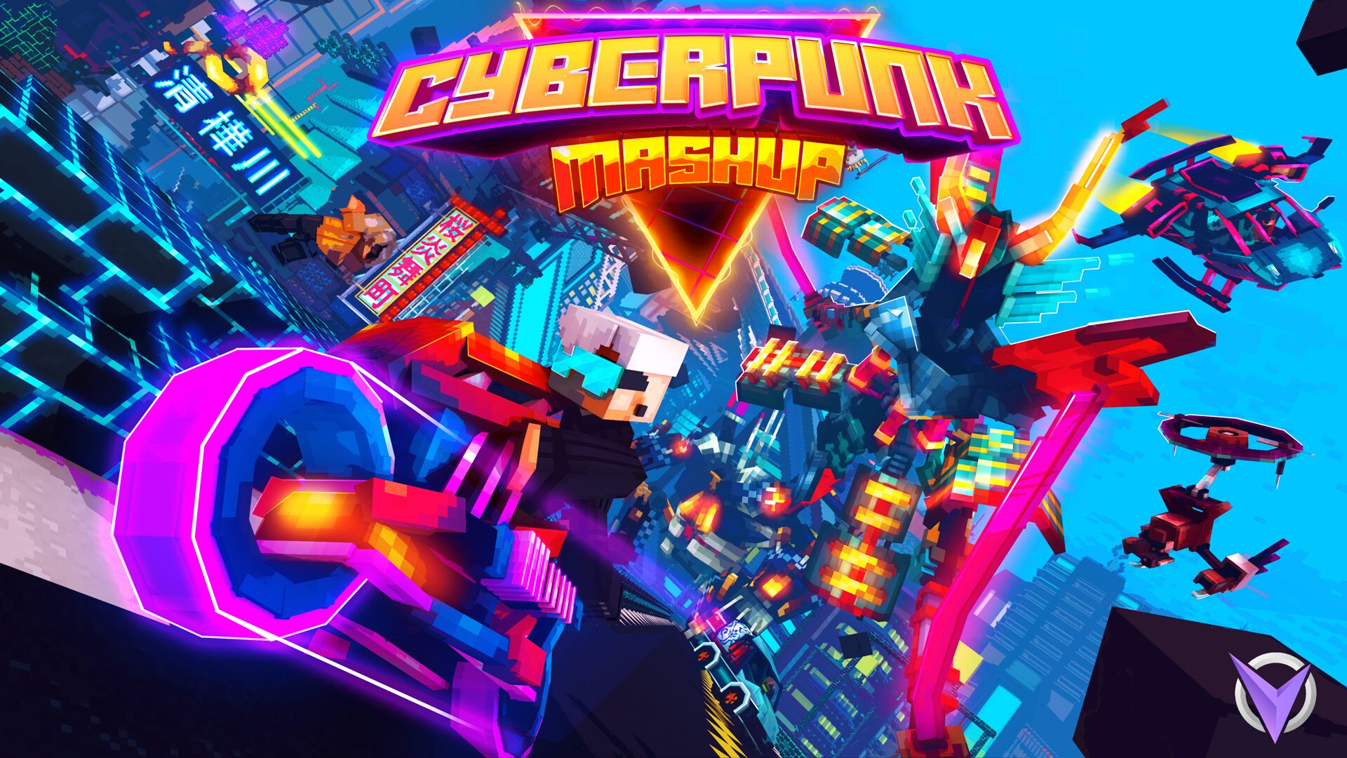 """Team Visionary on Twitter: """"Introducing Cyberpunk Mashup! Robots and augments have become the norm in this cyberpunk reality. The city has become the playground for the robot elites. Take the journey into"""