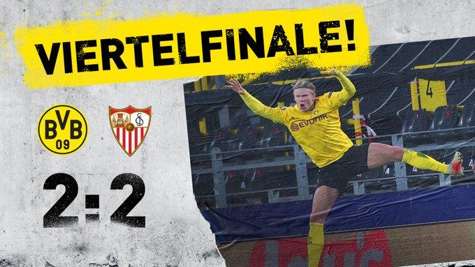 Skor akhir Borussia Dortmund 2-2 Sevilla