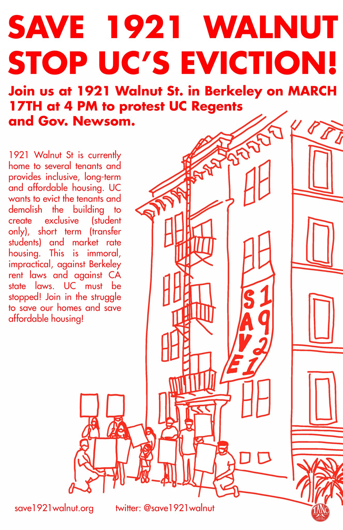 Stop UC's Eviction! @ 1921 Walnut Street