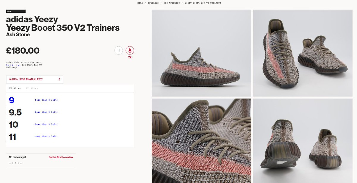 Few sizes restocked: Adidas Yeezy Boost 350 V2