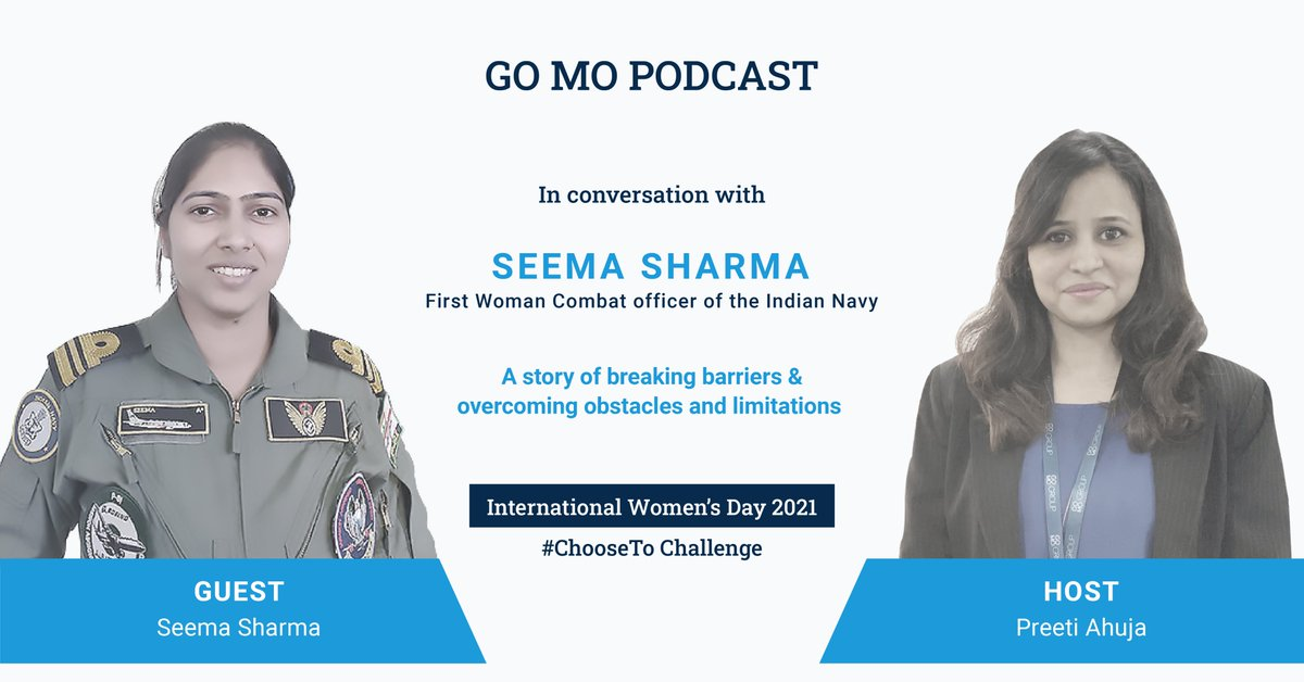 This week's podcast featured our own Preeti Ahuja hosting an insightful Q&A session with Lt Commander Seema Sharma from the Indian Navy to get insights on how she excelled in a field that was traditionally male and to understand her personal challenges. https://t.co/Hkv7hX9qLS