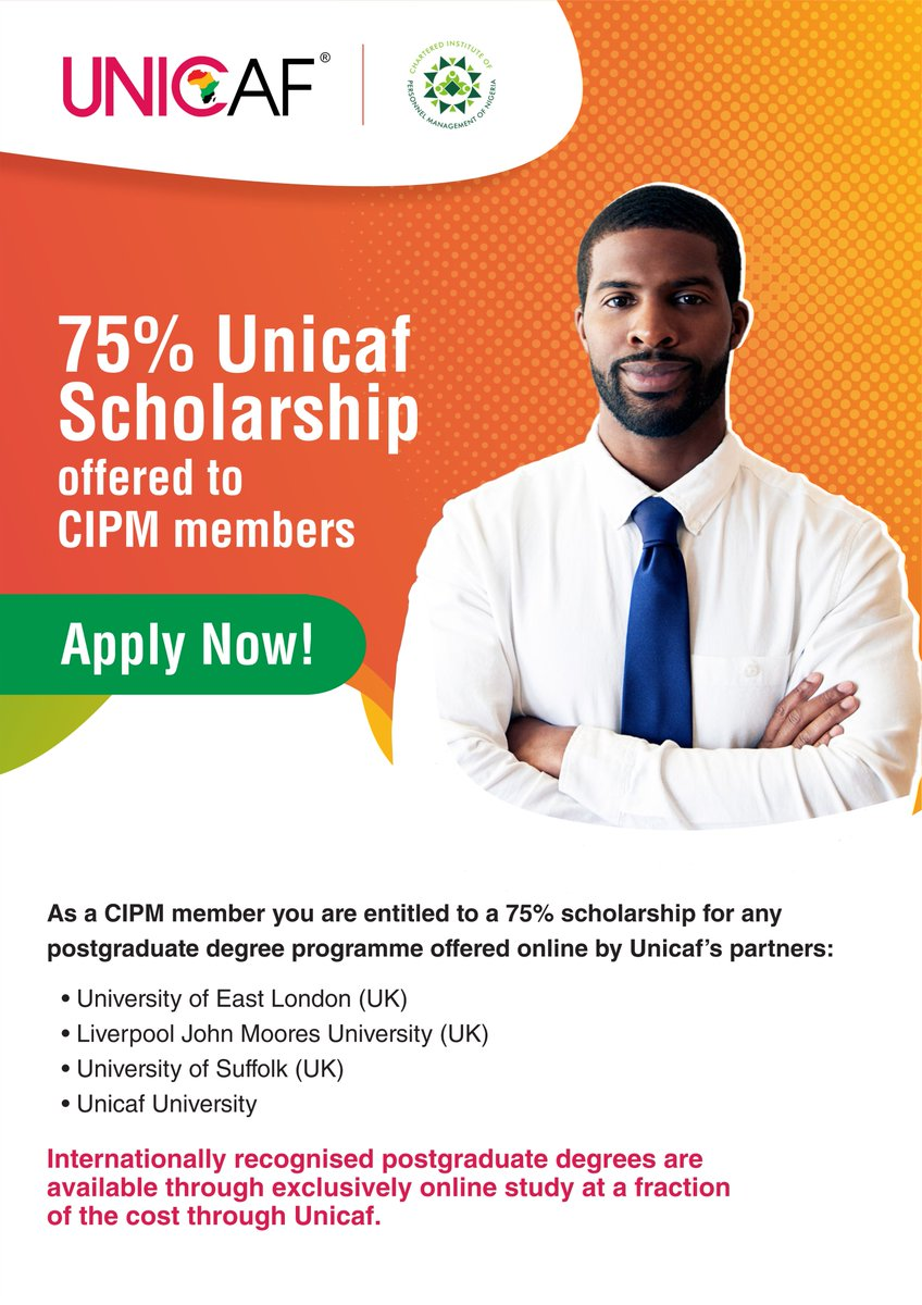UNICAF Master and Doctoral Scholarship for 2021