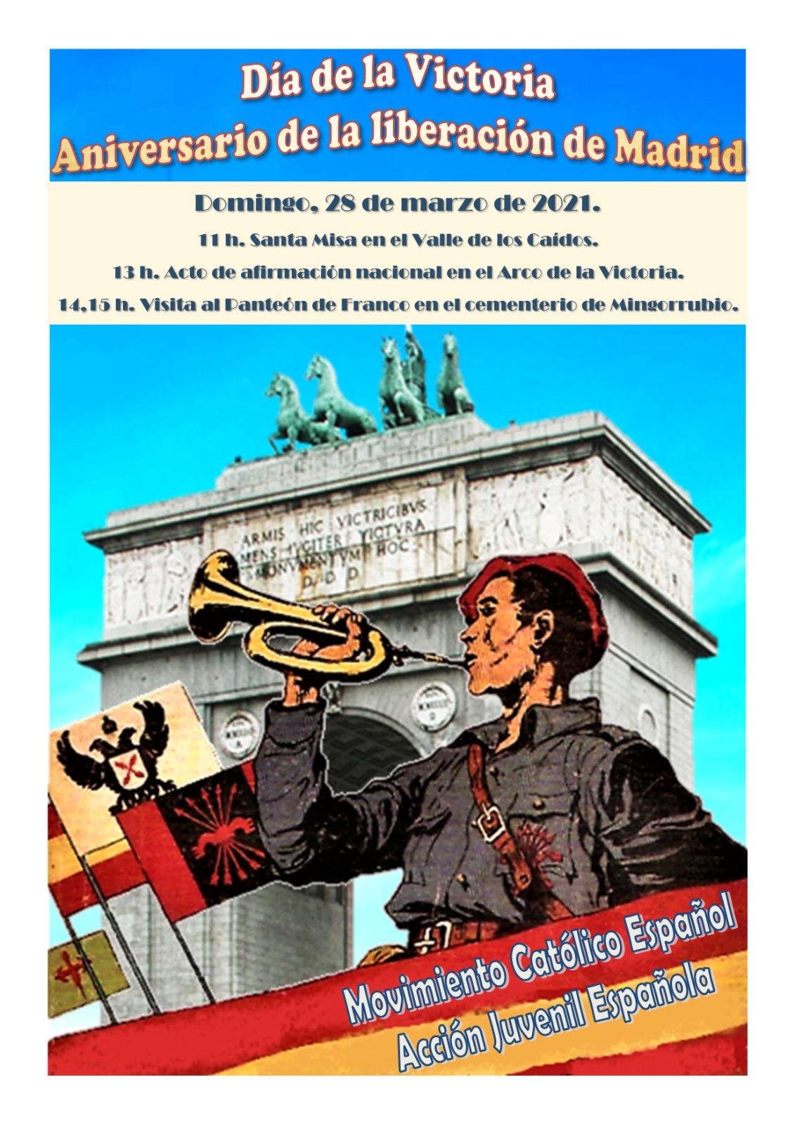 Franquistas celebrarán este domingo una marcha por Madrid para enaltecer la dictadura