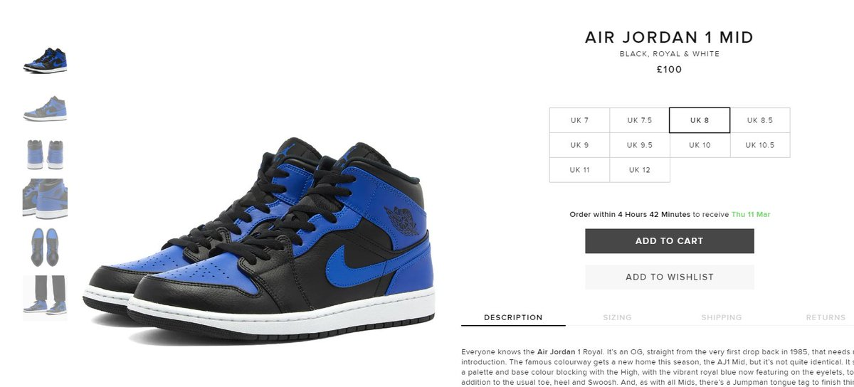 Live via END: Air Jordan 1 Mid