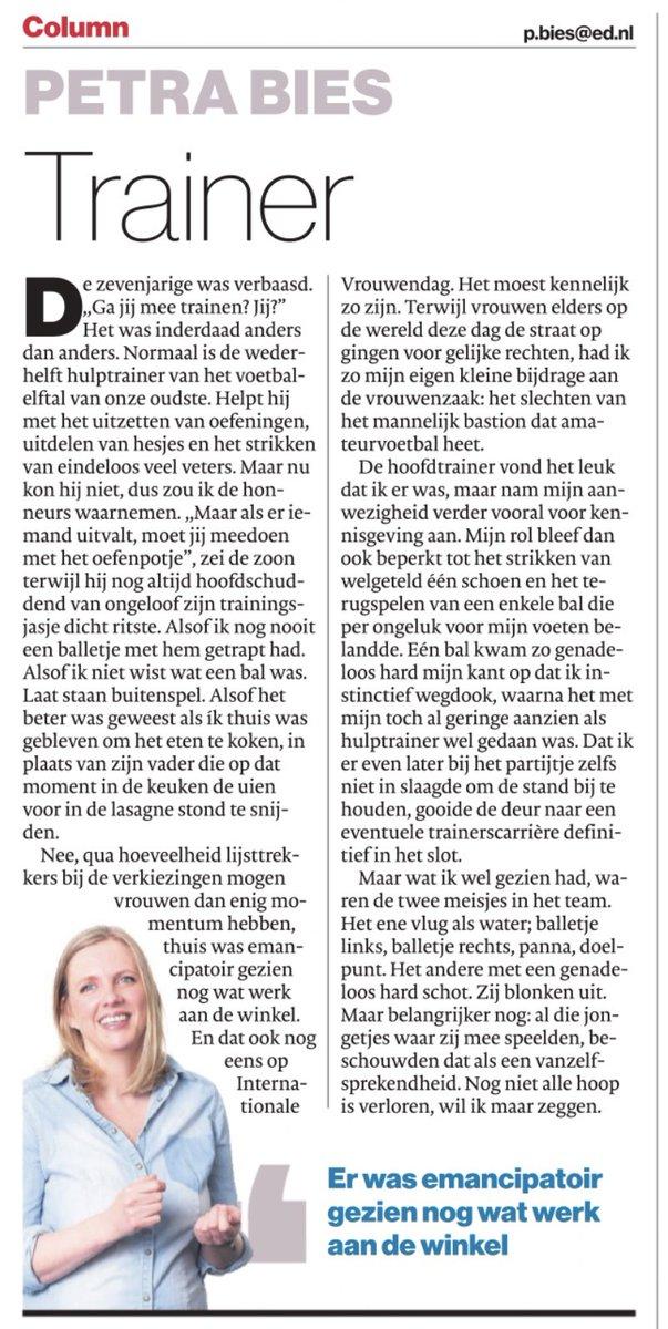 test Twitter Media - Petra Bies schrijft niet alleen hele leuke maar vooral ook hele sterke columns | @PetraBies in het Eindhovens Dagblad  @ED_Regio #column #ED https://t.co/lxi5NNmoQt