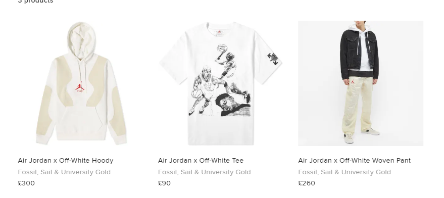 Restock via END: Jordan x Off-White Apparel Collection