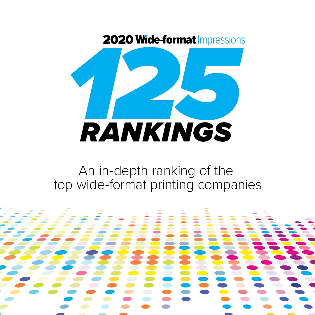 The 2020 Wide-format Impressions 125 reflects many of the largest industry trends — convergence being on the top of the list.  #PRINTINGindustry