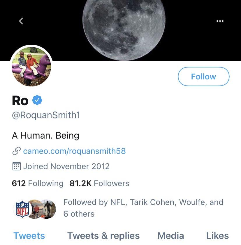 Did @RoquanSmith1 change his bio?!?!? https://t.co/7DuYoEbiXq