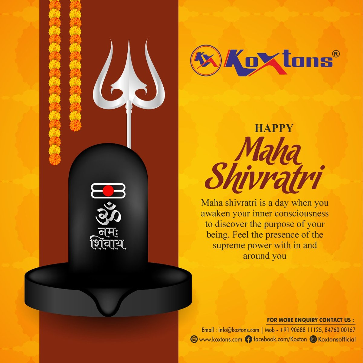 May the blessings of Lord Shiva be the harbinger of peace, prosperity and harmony in your life. Koxtons Sports wishes you a very Happy Maha Shivratri.🙏✨ . . . #koxtonsportsindia #koxtonsports #koxtons #mahashivratri #happymahashivratri #mahashivratri2021 #kailash #lordshiva https://t.co/yWi1wpJ5xS