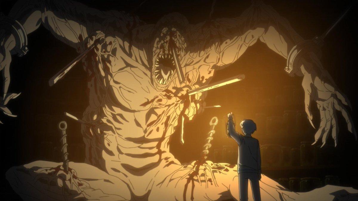"""Wakanim en Twitter: """"The Promised Neverland à deux doigts de réveiller les  vieux démons d'Hansi... 😭… """""""