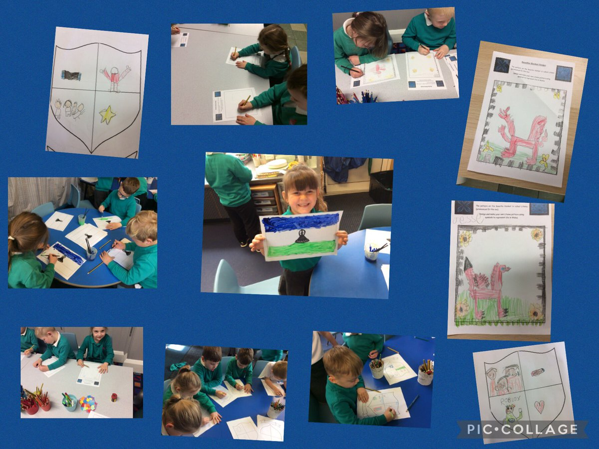 Children learning about #GlobalCitizenship with Wales's twin #Lesotho @DolenCymru love the drawings @tynywernp
