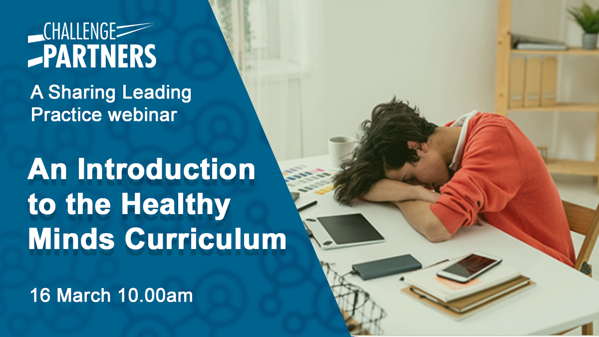 Join us as we hear from @ChancellorsSch on their Healthy Minds Curriculum next Tuesday. Sign up here to secure your place: https://t.co/1KC174Tnn8  #FreeCPD #Secondary https://t.co/jJ7IynlTDV