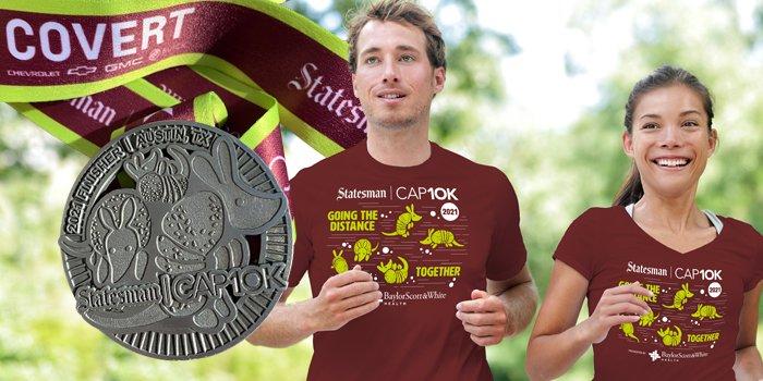 Statesman CAP10K 2020 Finisher Medal Austin Texas TX