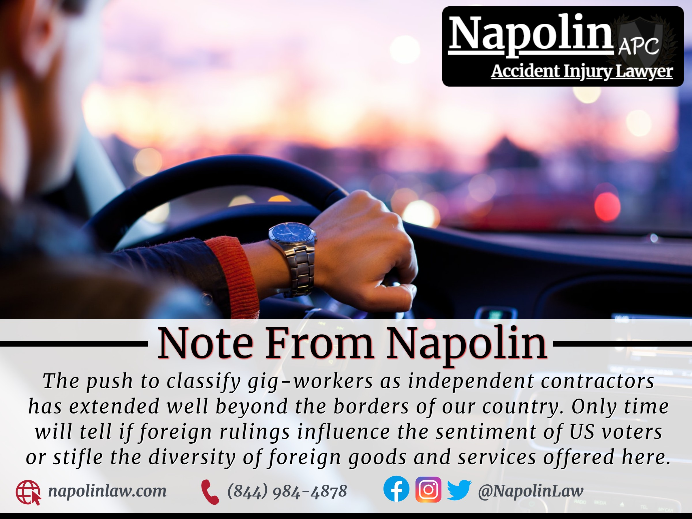 Napolin Accident Injury Lawyer Orange County