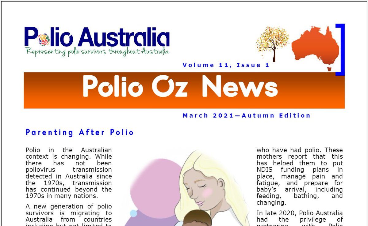Hot off the press! The Autumn Edition of Polio Oz News is out now. You can download or read it here:  https://t.co/gokDztELxC