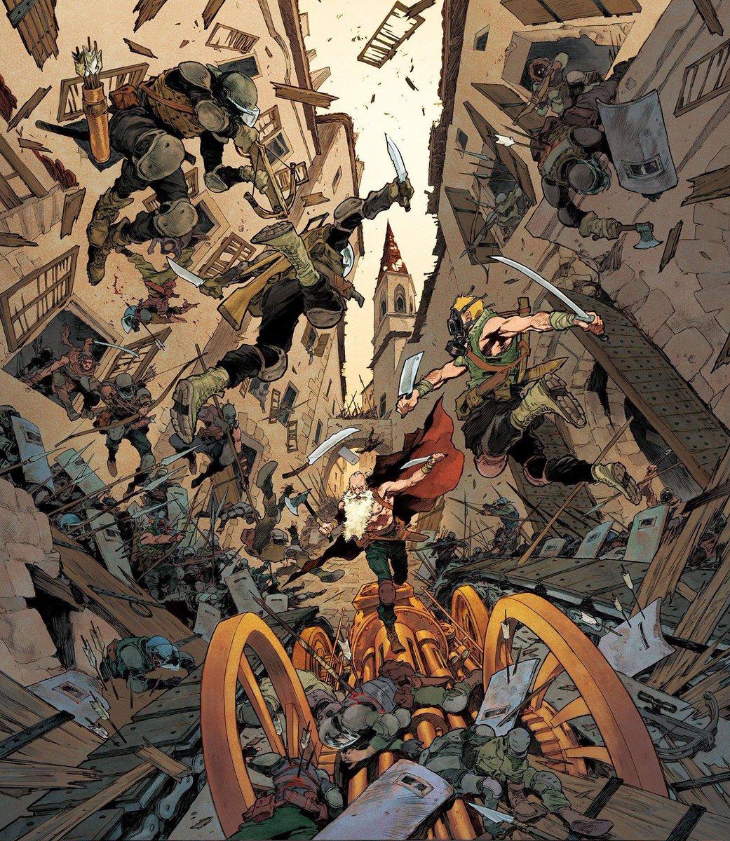 Cover of RAVAGE book 3 By Rey Macutay - @SuperaniArt-ist Colors: Walter / Novel: Barjavel / Script: @JDMorvan / Publisher: @GlenatBD https://t.co/f01ybmaGTL