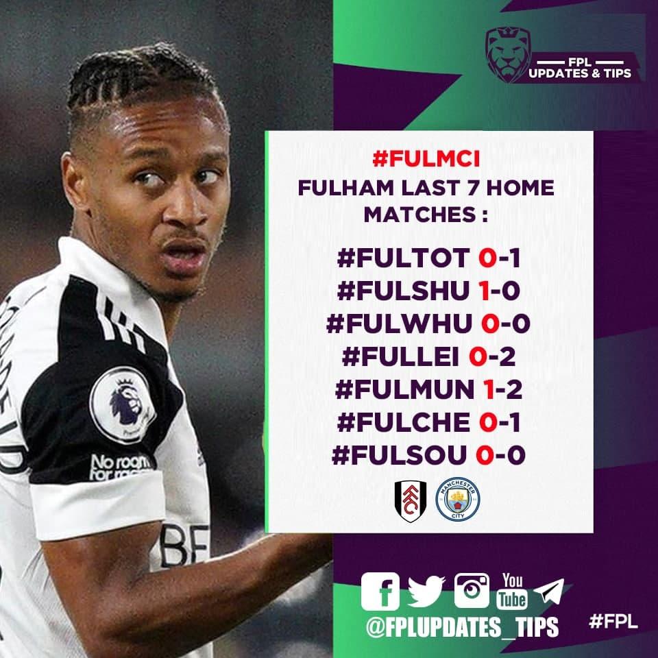 Fulham Last 7 Home Matches : #FULTOT 0-1 #FULSHU 1-0 #FULWHU 0-0 #FULLEI 0-2 #FULMUN 1-2 #FULCHE 0-1 #FULSOU 0-0  5/7 Failed to score https://t.co/cSLn0TwTny